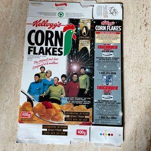 Star Trek the original cast 1997 Corn Flakes Cereal Box